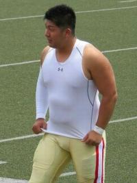 若いアメフト選手 (4)