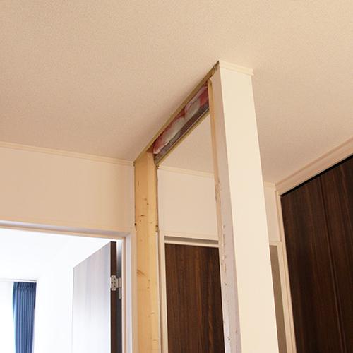 廊下の壁を取って小さなホールにする⑤