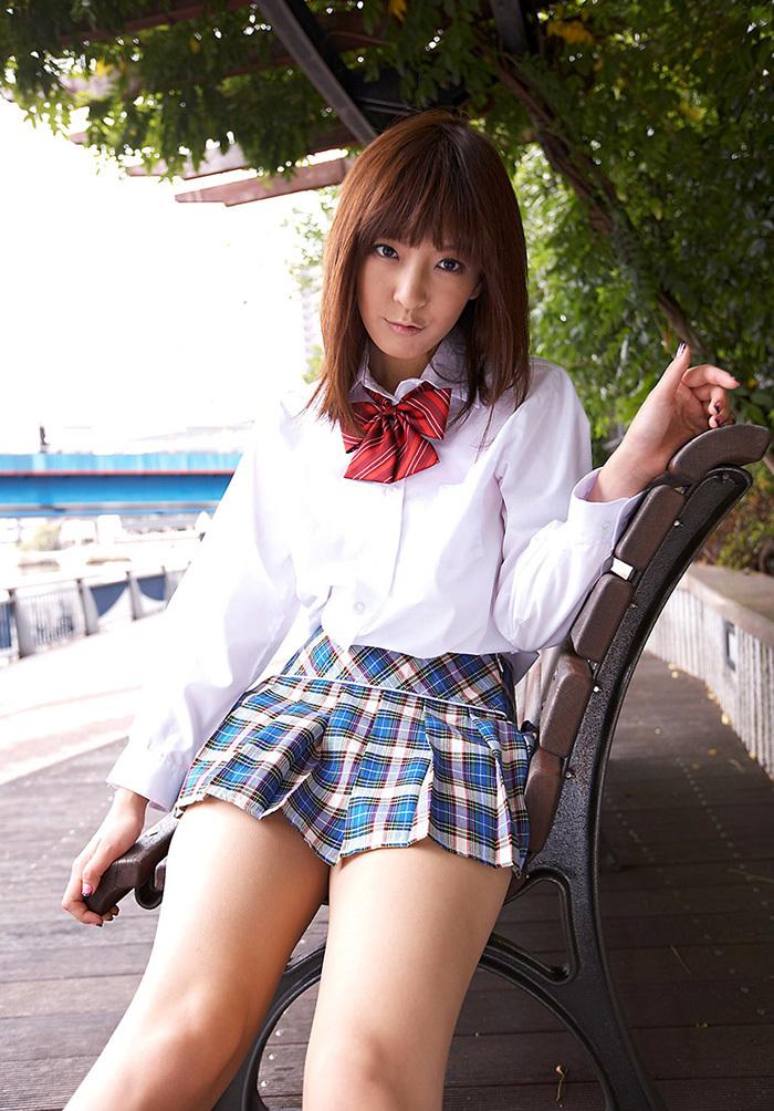 ましろ杏 制服 コスプレ エロ画像 21