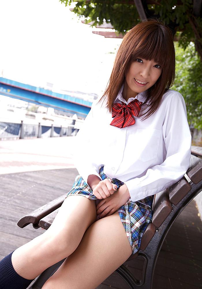 ましろ杏 制服 コスプレ エロ画像 23