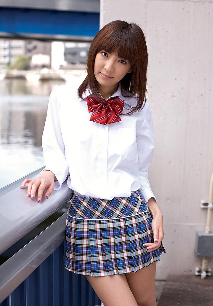 ましろ杏 制服 コスプレ エロ画像 5