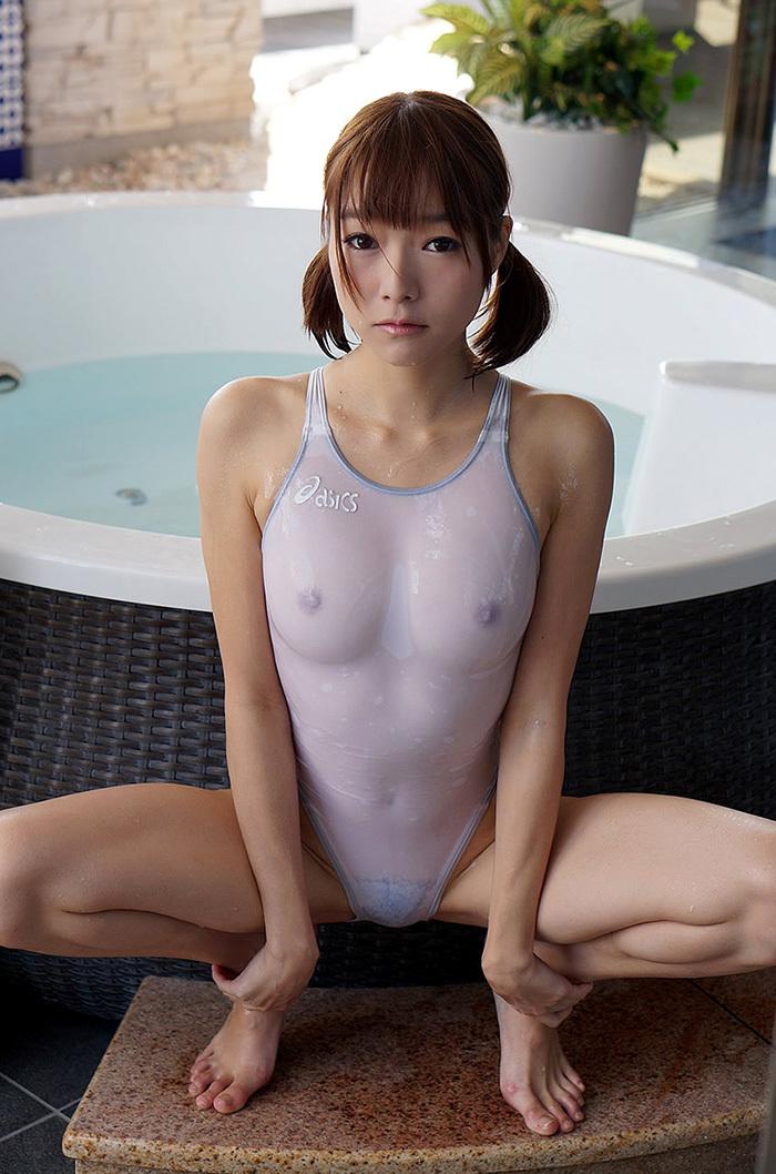 涼川絢音 水着 ローション エロ画像 42