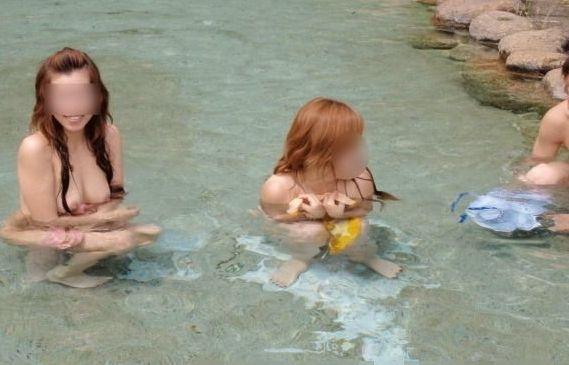 【露天風呂盗撮エ□画像】温泉はエ●チなパラダイス…女性の裸体画が見放題www