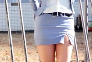 唯川みさき、ミニのタイトスカートがエロすぎる長身OLとハメ撮りですぞ