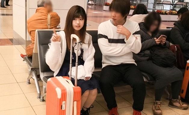 羽田空港で見つけた経験人数2人だけの清純ピュアガールをナンパして濃厚SEX!電マの振動で絶叫お漏らししちゃう19歳専門学生!