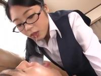 事務系めがね痴女OLに舐めまわされる!