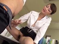 【広瀬奈々美】男子社員のチ○ポをハンド&フェラテクでスッキリさせる熟女OL