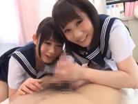 ロリカワJK 保健室でハーレム痴女3P!小西まりえ 篠宮ゆり
