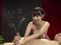 松浦理央 ぬるぬるふわふわおっぱいを吸わせながらの授乳手コキでイカせて男潮も吹かす巨乳お姉さん!