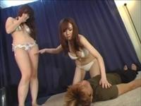 水着ビキニで暴行M男虐め!