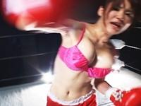 Mixed Boxing 巨乳お姉さん選手に挑戦!七葉しほり