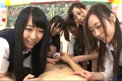 JK文化祭模擬店 集団オナサポセンズリ鑑賞!