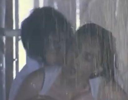 【長谷川京子】後ろから抱きつかれた濡れ場