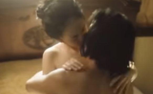 【小宮有紗】対面座位でギュッと抱きしめ合った濡れ場