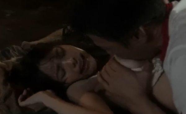【岡村いずみ】乳首を舌先で弾きながら愛撫した濡れ場