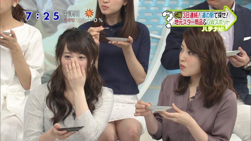 郡司恭子というパンチラを気にせずスカートの三角地帯を見せるアナ