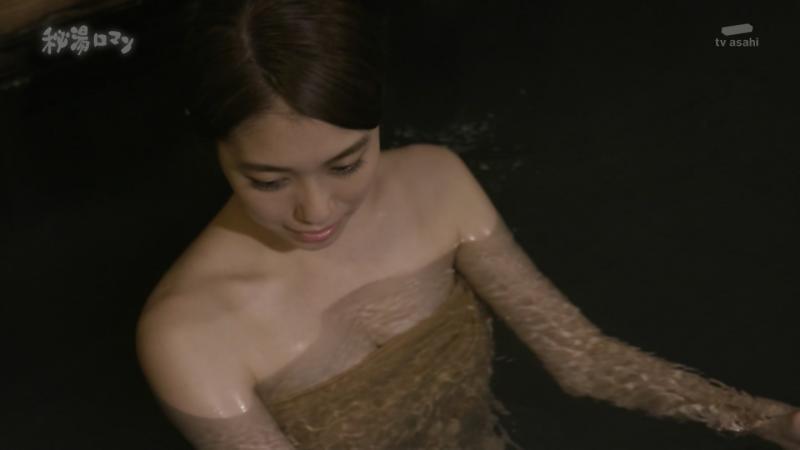 タオルをずれ気味にして乳首見えそうに 秘湯ロマン 181015