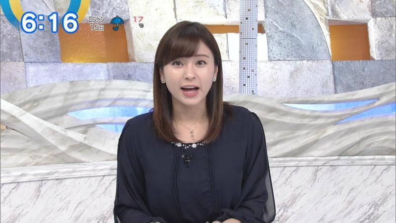 角谷暁子さん透けスカートでエロい脚を見せる モーサテ 181016