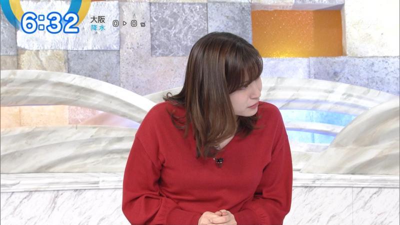 角谷暁子さんのムチムチのエロい横乳 モーサテ 181023