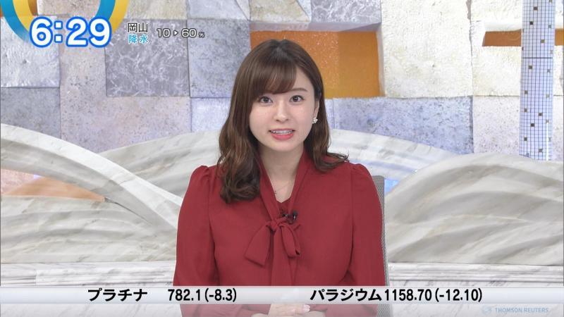 角谷暁子のエロい横乳 モーサテ 181212