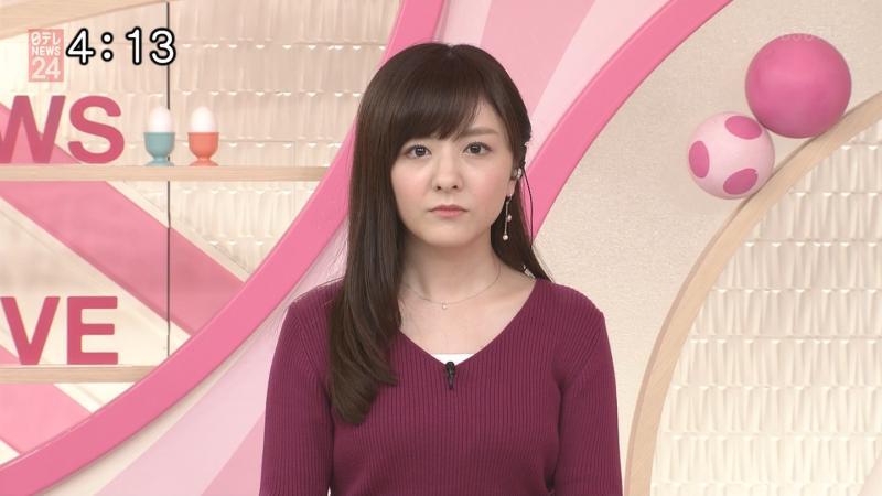 久々にニットでおっぱいを強調してきたえちえち小菅遥香さん おはよん 181011