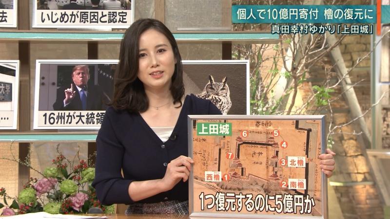森川夕貴 エロい胸元 報ステ 190220