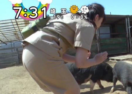 尾崎里紗の太って透けちゃった下着やパンティー
