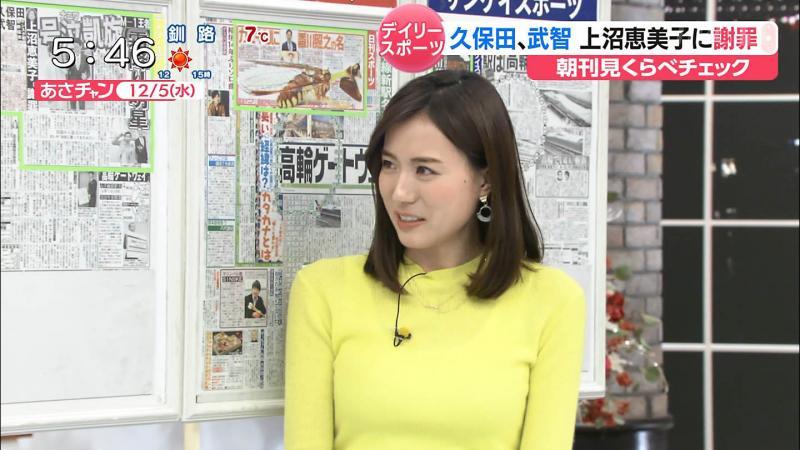 笹川友里 エロいタンクトップ透けおっぱい あさチャン 181206
