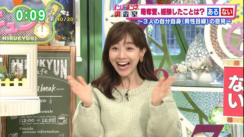 田中みな実   セーターおっぱい ひるきゅん 190216