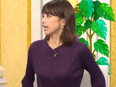 加藤綾子の結構オッキしちゃうエロいブラ透け