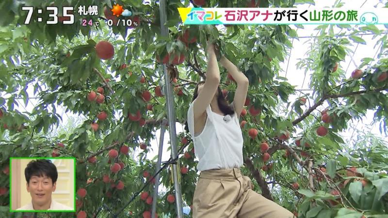 北海道の石沢綾子アナがロケでエロ腋どころかブラまで見えてしまう 180927