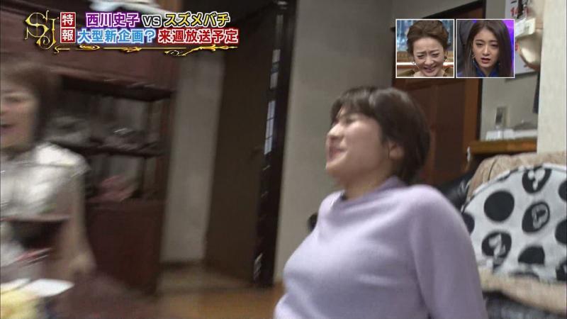 山本里菜さんおっぱいを大きくして揺らす サンジャポ 181022