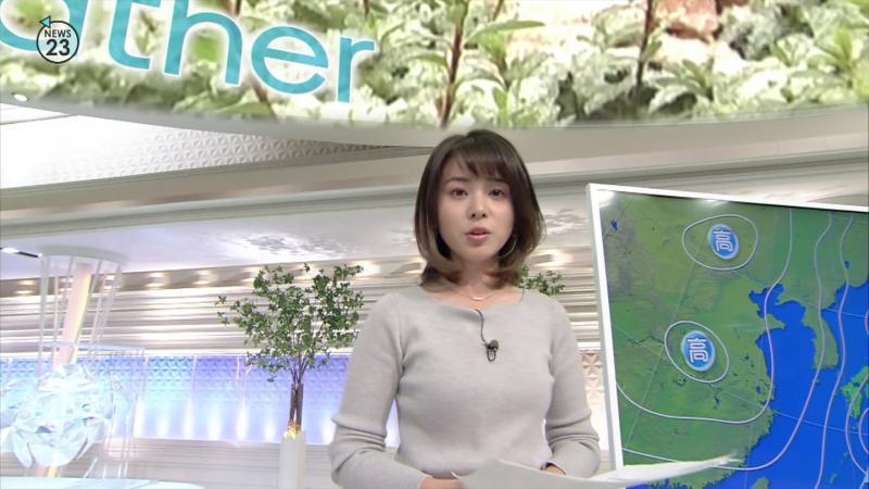 皆川玲奈のエロいおっぱい NEWS23 181122