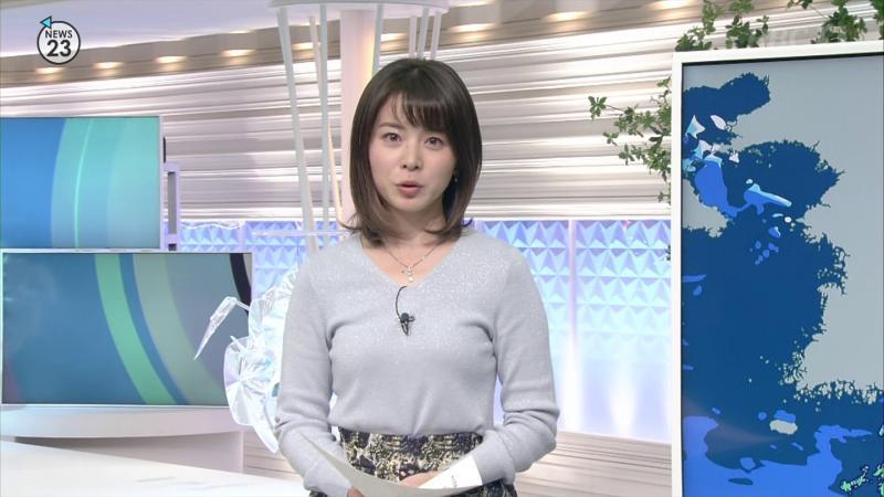 皆川玲奈 エロいおっぱい NEWS23 181211