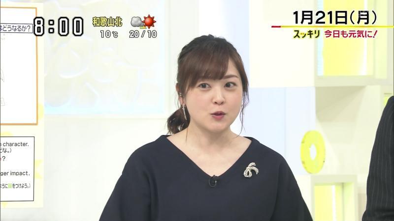 水卜麻美 エッチな胸チラ スッキリ 190122