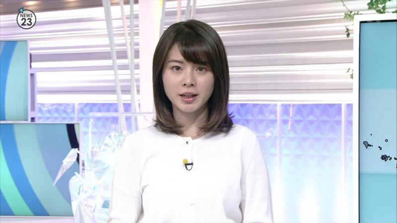 皆川玲奈 エッチなおっぱい NEWS23 190212