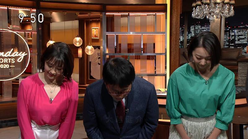 副島萌生 エロいおっぱいの谷間 サンデースポーツ 190218