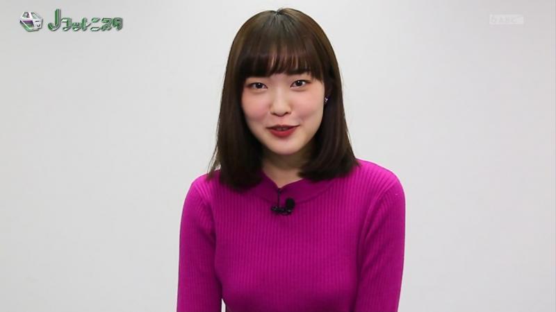 澤田有也佳 エロいニットおっぱい Jフットニスタ 190220