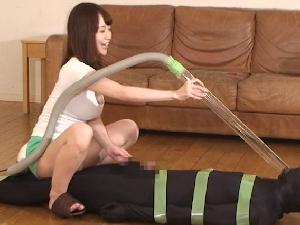 篠田ゆう 女上司に拘束され掃除機で窒息させられたりチンポ金玉を吸い込まれ悶絶するM男