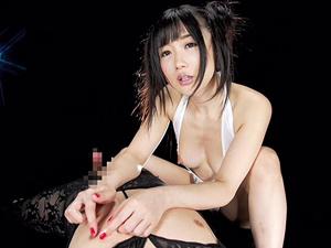 【大槻ひびき】美人痴女に馬乗りで乳首を責められ手コキでザーメンを搾られる主観映像