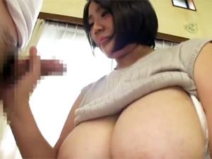 九条さやか Lカップ超乳のハンパないパイ圧のパイズリ!!