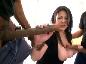 【櫻井夕樹】世界NO.1とNO.2の巨チンに同時に責められ白目でイキまくるLカップぽっちゃり爆乳痴女